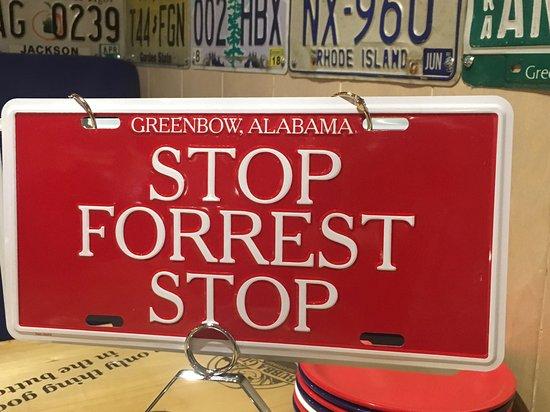 Bubba Gump Shrimp Co. Stop Forrest Stop Sign