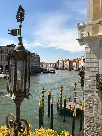 View of the Grand Canal from the terrace.
