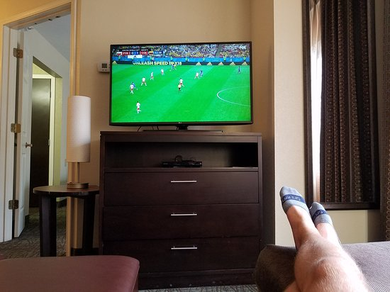 Staybridge Suites Colorado Springs: Watching the World Cup
