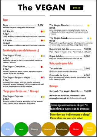 The Vegan: Food menu for July