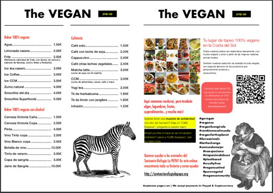 The Vegan: Drinks and info
