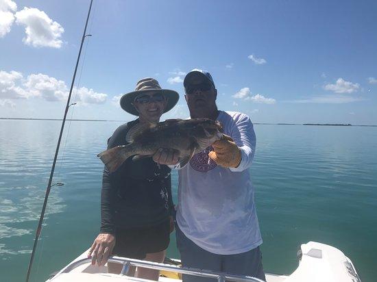 Ramrod Key, FL: We caught a big grouper!