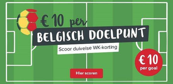Lummen, Βέλγιο: België nog in WK ! speelwedstrijden bij Sauna Sensations: minus 10 € per doelpunt gemaakt