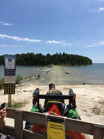 Baileys Harbor, WI: Ready to ride across the causeway