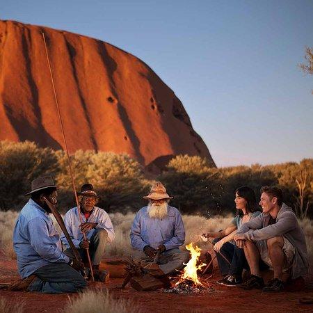 Uluru-Kata Tjuta National Park, Australien: Campfire at Uluru