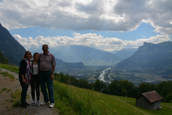 Triesenberg, Liechtenstein: Anna-Lena is very good with the camera. A Kodak moment for our family.