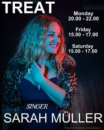 Sarah Muller sings at Treat cafe bar