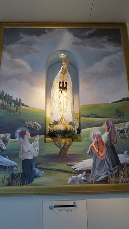 Barto, PA: Our Lady of Fatima statue and mural