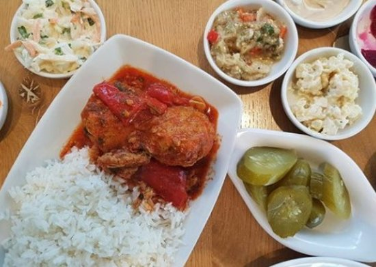 Meuchas - Jerusalem Cuisine: Some of our famous salads along with your meal