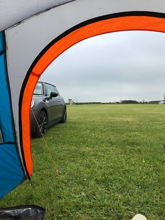 Tregavone Touring Park: Tent with a view