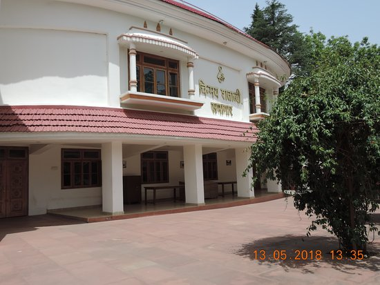 Kangra, Hindistan: Auditorium at Chinmay Tapovan