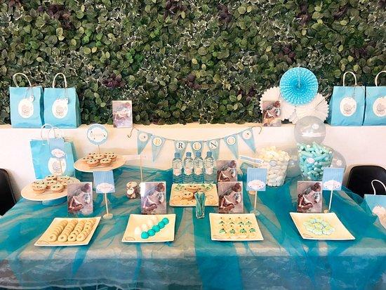 La Nave: mesa dulce bautizo Bruno