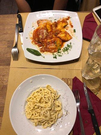 Cantina & Cucina: Cacio a pepe and Cheese and Spinach Ravioli