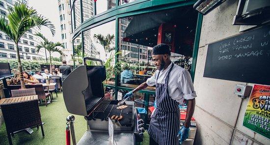 Boisdale Canary Wharf: Summer BBQ on the Terrace
