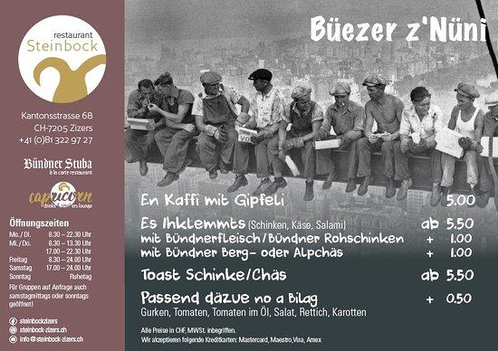 Zizers, Sveits: Büezer z`Nüni