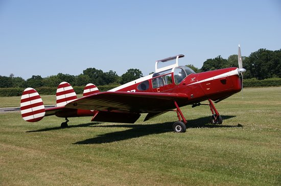 The Shuttleworth Collection: A rather nice Miles Messenger on a fly in visit.