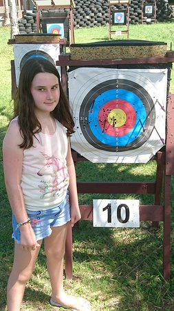 Flying Arrow Archery Range Restaurant & Bar: Even our kids loved the day