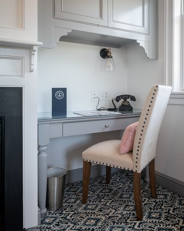 The Whaler's Inn: Enjoy a view of the river and a cozy writing desk from our Hoxie House