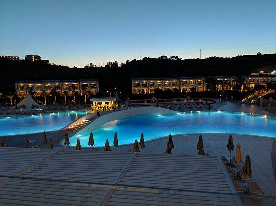 Princess Andriana Resort & Spa: View from the lobby bar