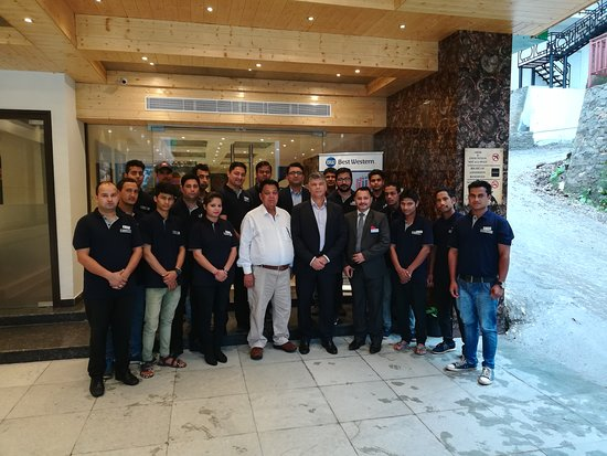 Best Western Himalayan Monal: Great Feeling After Passing the  QA Result. BWI QA Team, Mr. Virendra Kapani MD, GM and BWHM Tea