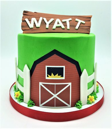 Strange Barnyard Farm Themed Smash Birthday Cake By Flavor Cupcakery Funny Birthday Cards Online Sheoxdamsfinfo
