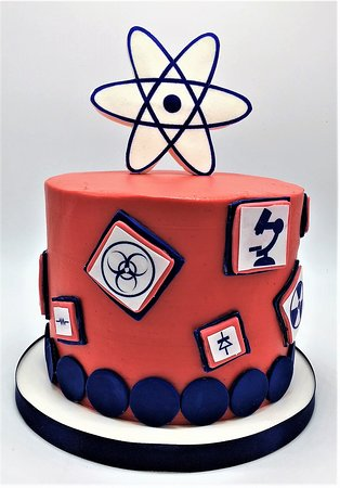 Magnificent Science Themed Smash Cake By Flavor Cupcakery Picture Of Flavor Funny Birthday Cards Online Elaedamsfinfo