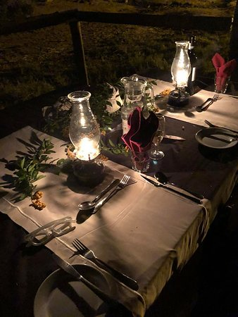 Elephant Valley Lodge: Private dinner for two to celebrate our 25th anniversary