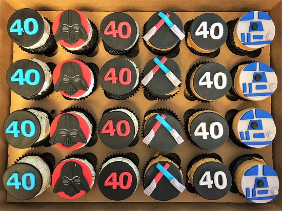 Incredible Star Wars Themed 40Th Birthday Cupcake Toppers By Flavor Cupcakery Funny Birthday Cards Online Alyptdamsfinfo