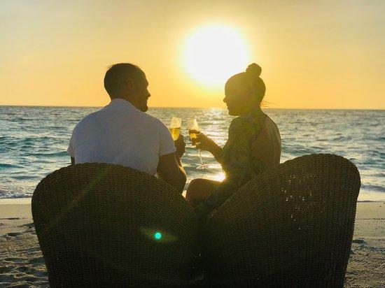 Baros Maldives: Champagne & Sunset
