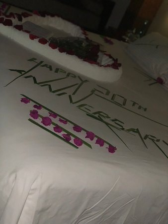 Baros Maldives: Extra special touch for our Anniversary arranged by my husband <3