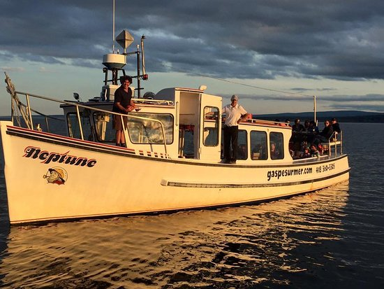 Gaspe, Canada: notre bateau