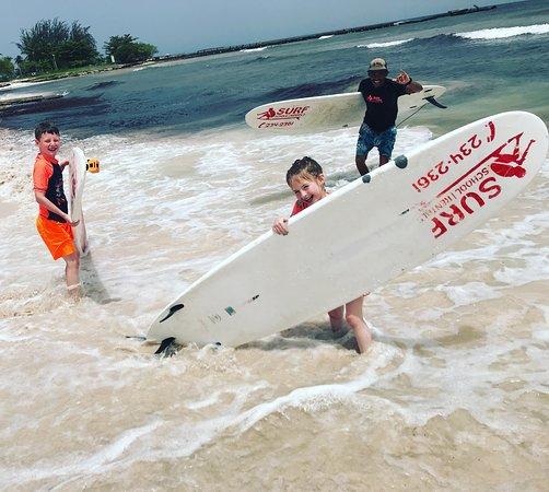 Ride The Tide Surf School: Surfing spot Pebbles Beach Barbados, Ride The Tied Surf School