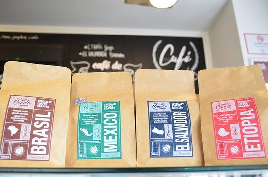 Santa Canela: Escoge el café que desees llevarte!