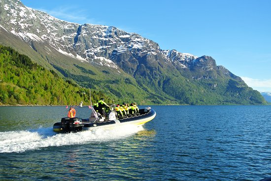 Skjolden, Norway: From our Fjord RIB Adventure on the Lustrafjord - the inner part of Sognefjord