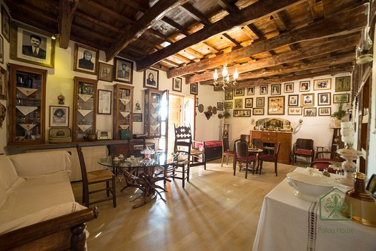 Poliou House: The traditional house's living room. Part of the folklore museum.