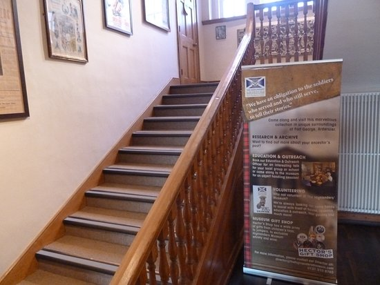 The Highlanders' Museum (Queen's Own Highlanders Collection): Stairs to next floors