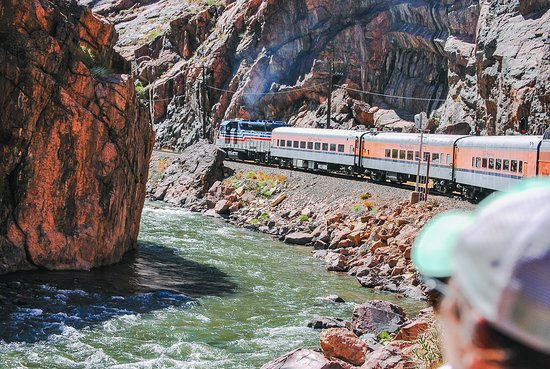 Royal Gorge Route Railroad: View from the open car. . .June 2018