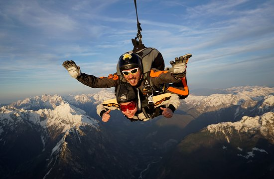 Бовец, Словения: Tandem jump above the Soca Valley :)