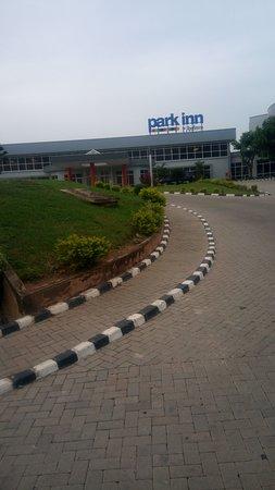 Driving into Park Inn by Radisson Abeokuta