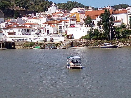 Sanlucar de Guadiana, Spain: The boat that brings you back to Spain,