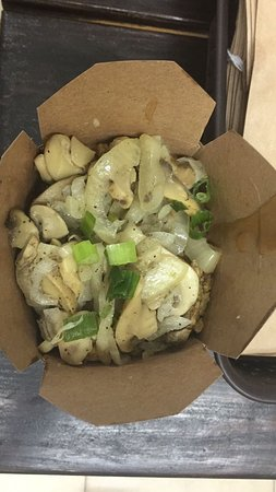 geera with onions and mushrooms picture of poutinois trinidad