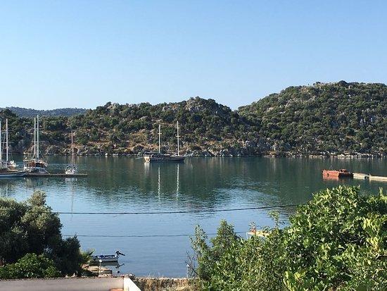 Ucagiz, Turkey: Ausblick von der Terrasse!!
