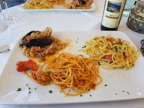 Ristorante Da Giacomino: 18Euro 3-dish sampler and house wine