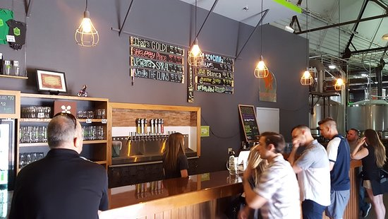 Third Space Brewing: The main bar at Third Space