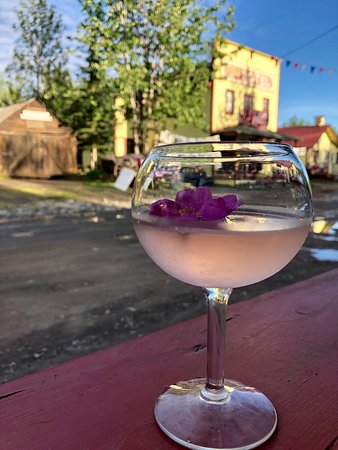 McCarthy, AK: Rose martini with a view!