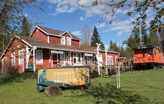 The Valemount Museum restored train station, built in 1914.