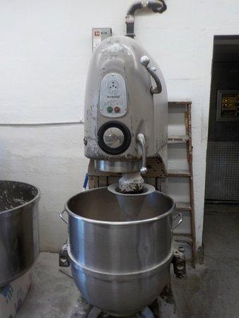 Ferlo's Original Bakery: One of the mixing machines at Ferlo's