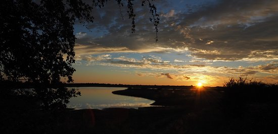 Nxai Pan National Park, Botswana: Sunset in the park