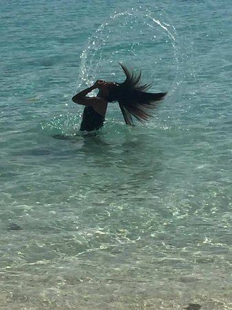 Kolonia, Micronesia: My daughter just loving the Ant waters