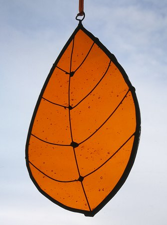 Stained Glass Workshops: Autumn leaf suncatcher